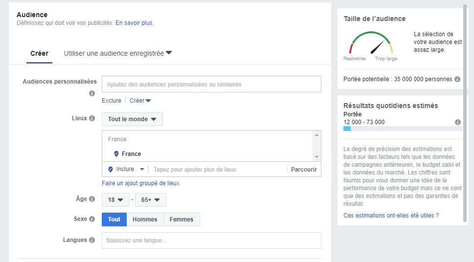 Audience-Facebook-ecommerce