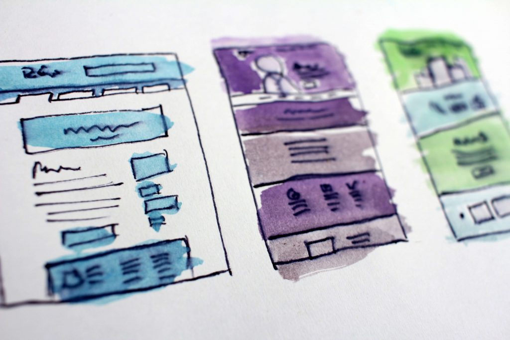 Wireframes UX Design ecommerce